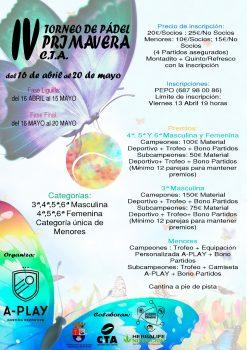 IV torneo de Padel Primavera